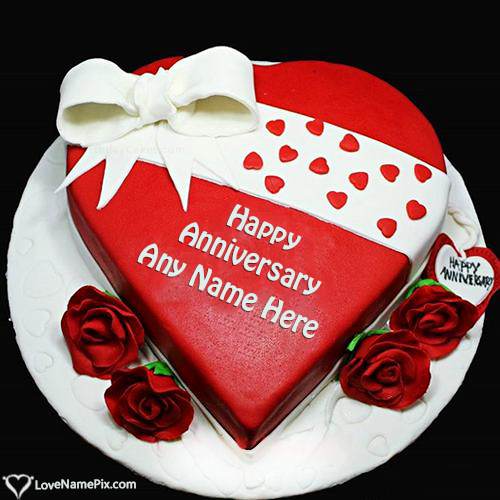 Write Name on Happy Marriage Anniversary Cake Picture