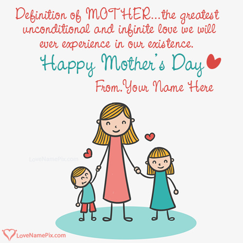 Write Name on Happy Mothers Day Quotes Picture