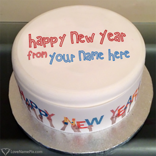 Happy New Year 2018 Cakes With Name