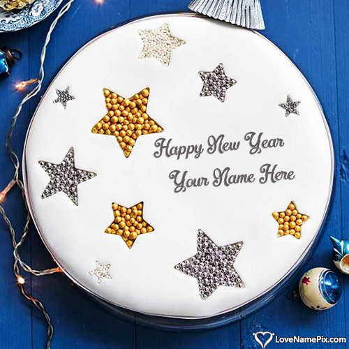 Happy New Year Cake Photo Edit With Name