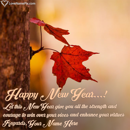 Write Name on Happy New Year Messages 2018 Picture