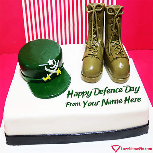 Write Name on Happy Pakistan Defence Day Cake Picture