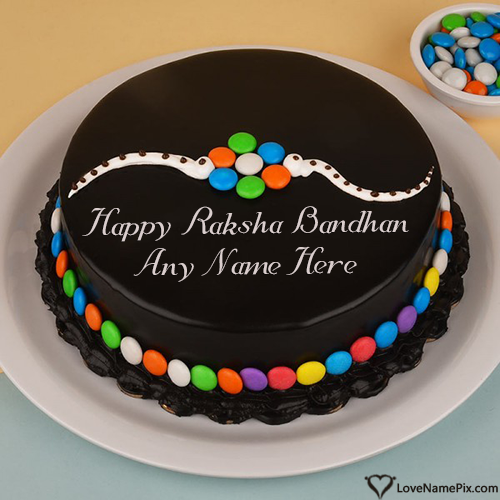 Write Name on Happy Rakhi Special Cake Images Picture