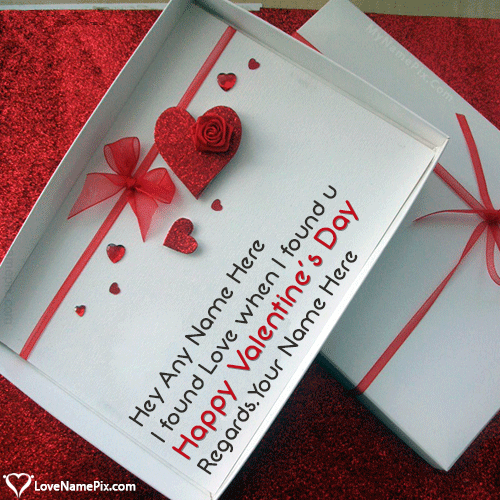 Write Name on Happy Valentines Day Messages For Husband Picture