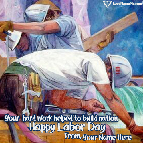 Write Name on Happy Workers Day Messages Picture