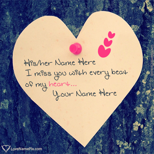 Write Name on Heart Missing Images For Lover Picture