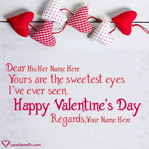 Hearts I Love You Valentines Day With Name