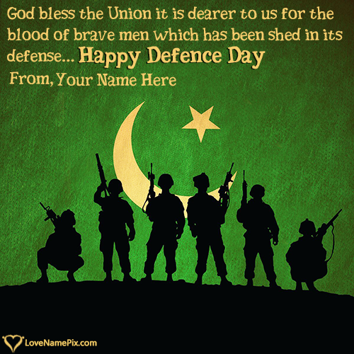 Write Name on Images Of Defence Day Wishes Picture