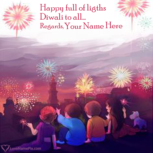 Write Name on Images Of Diwali Festival Of Lights Picture