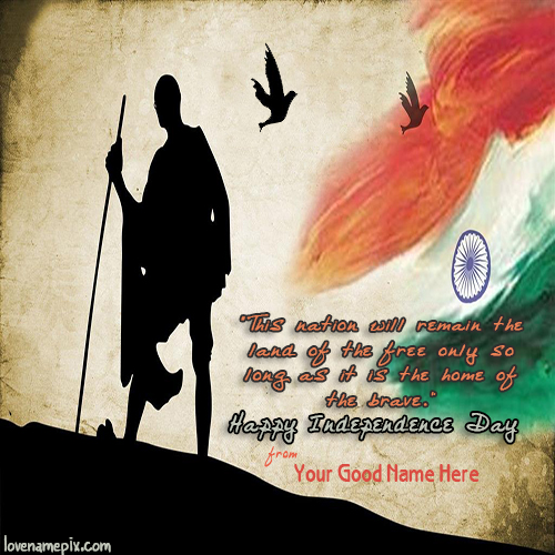 Write Name on Independence Day Quotes Picture