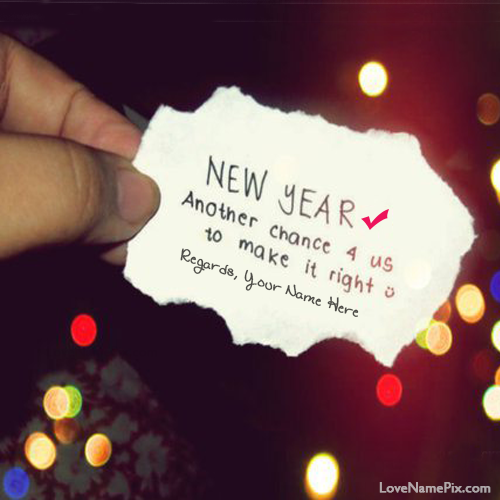 Write Name on Inspirational New Year Quotes Picture