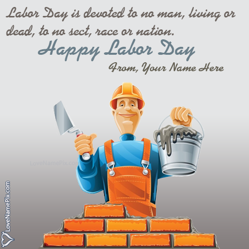 Write Name on Labor Day Images And Quotes Picture