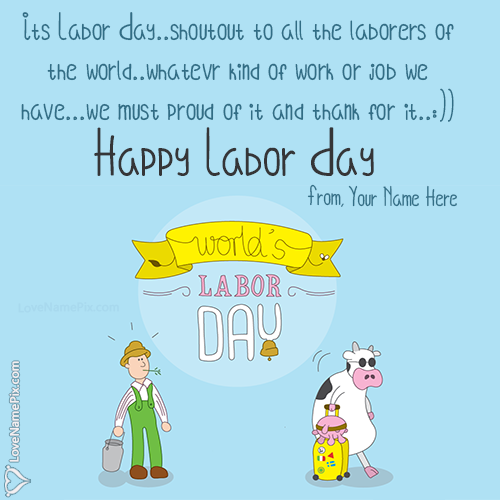 Write Name on Labor Day Images With Quotes Picture
