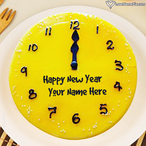 Latest Happy New Year Wishes Cake With Name