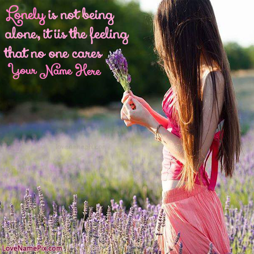 Lonely Girl Quotes Images With Name