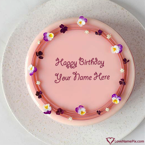 Magical Birthday Wishes Cake Edit With Name