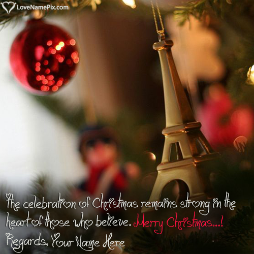 Write Name on Merry Christmas Wishes Images HD Picture