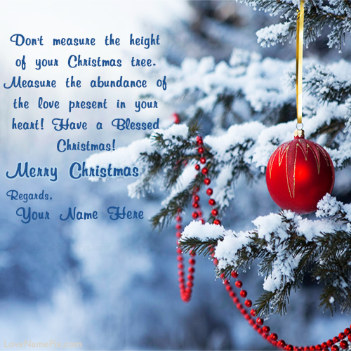 Christmas Wishes Messages.Merry Christmas Wishes Messages With Name Editing