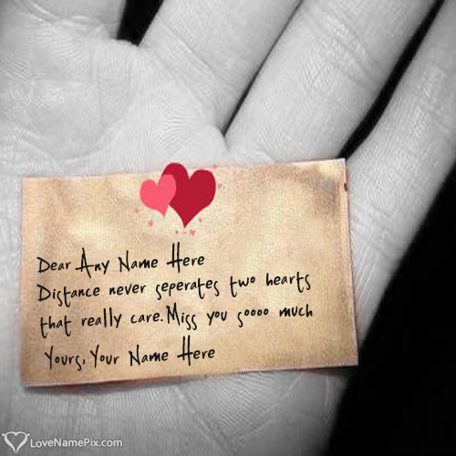 Write Name on Missing You Love Quotes For Him Picture