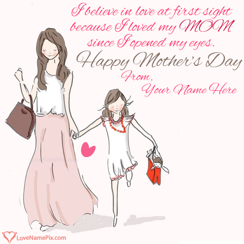 Write Name on Mothers Day Quotes From Daughter Picture