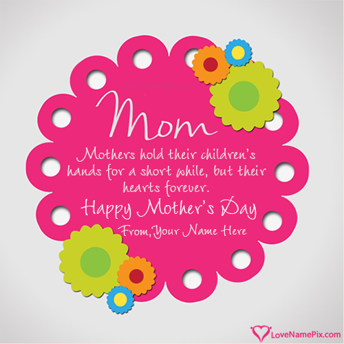 Write Name on Mothers Day Wishes Cards Picture