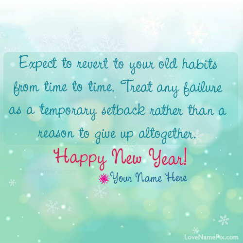 Best New Year Resolution Quotes With Name