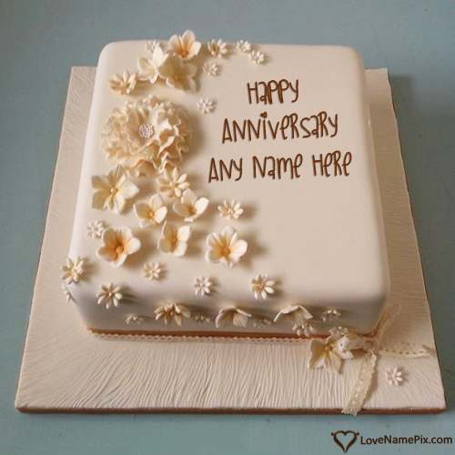 Online Classy Anniversary Cakes With Name