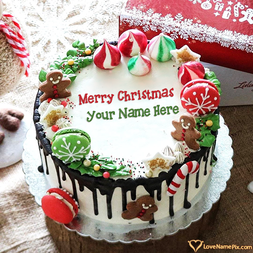 Online Maker Christmas Cake With Name