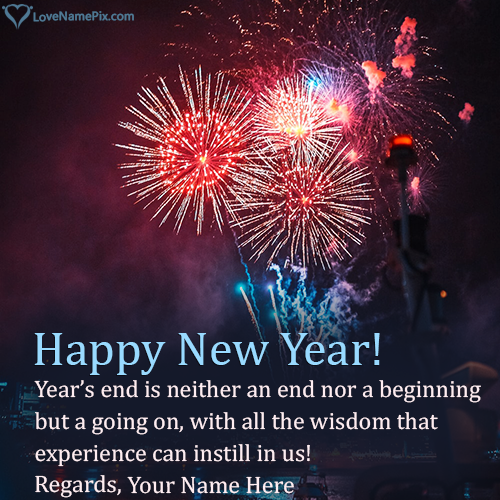 Photo Editor For Happy New Year Wishes With Name