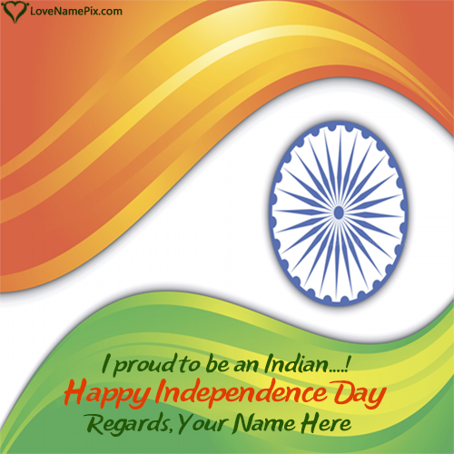 Write Name on Photo With Indian Flag Picture