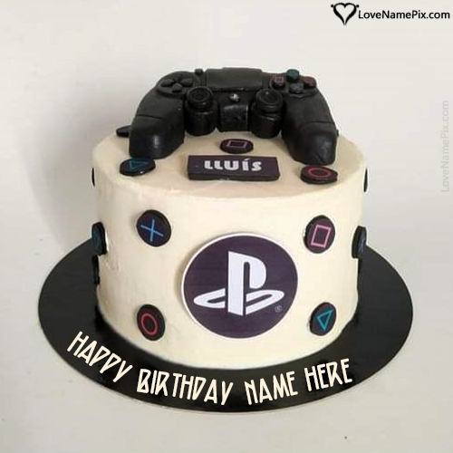 PlayStation Birthday Cake Images With Name