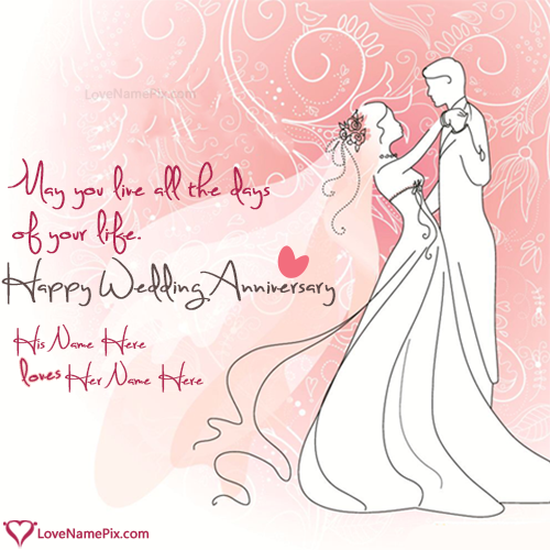 Printable Wedding Anniversary Cards With Name