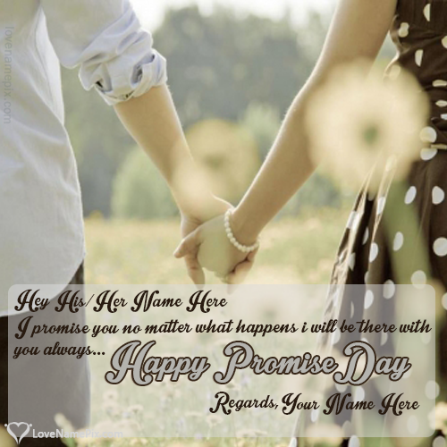 Promise Day Messages For Couple With Name