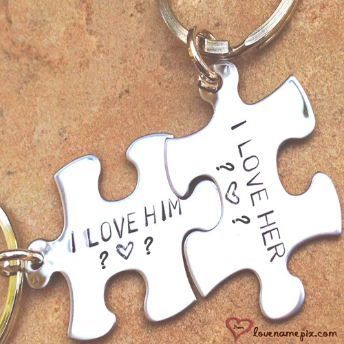 Puzzle Key Chain Letters With Name
