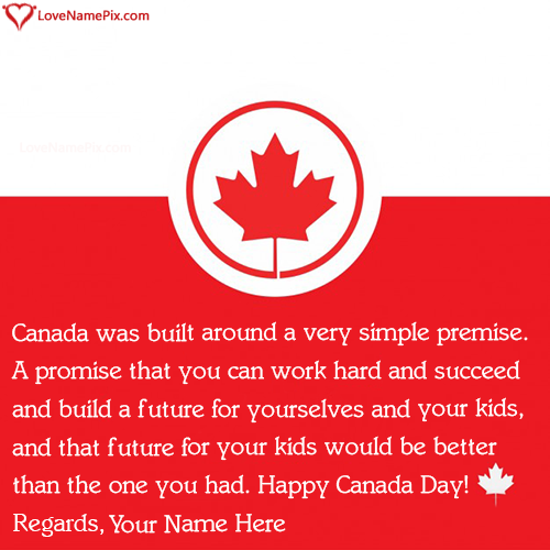 Write Name on Quotes About Canadas Independence From Britain Picture