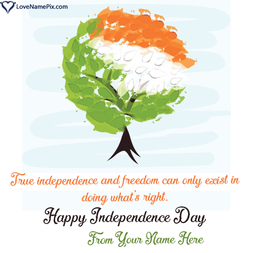 Write Name on Quotes Images India Independence Day Picture