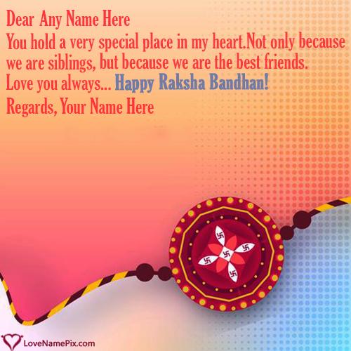 Raksha Bandhan Greeting Cards With Name