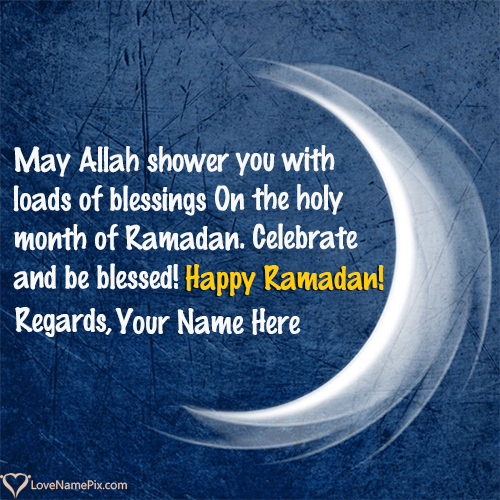 Ramadan Greetings In English With Name