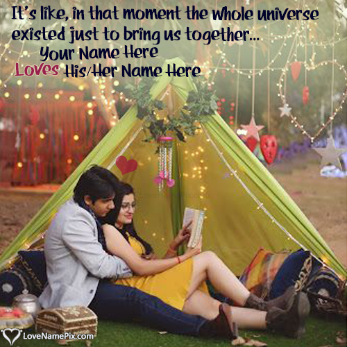 Write Name on Romantic Couple Love Quotes Maker Picture