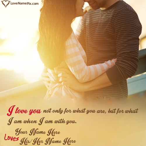 Romantic Couple Name Editing In Different Style With Name