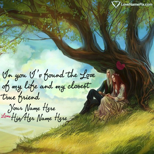 Write Name on Romantic Love Quotes For Girlfriend Picture