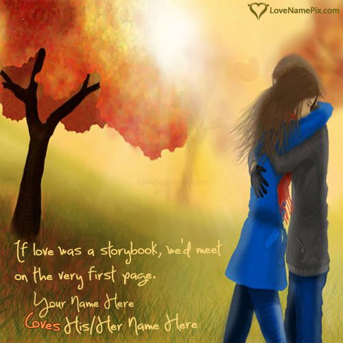 Write Name on Romantic Love Quotes For Him Picture