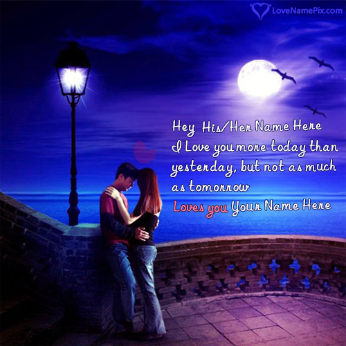 Write Name on Romantic Quotes Images For Her Picture