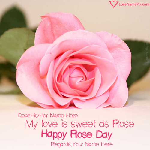 Write Name on Rose Day Sweet Love Messages Picture