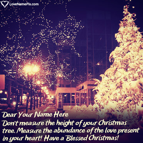 Write Name on Short Christmas Wishes Messages Picture