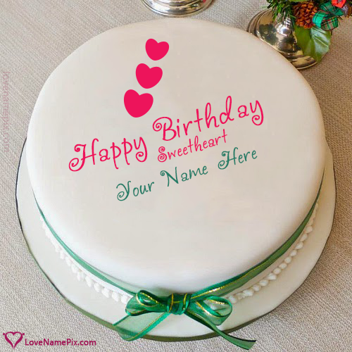 Write Name on Special Birthday Cakes For Girlfriend Picture