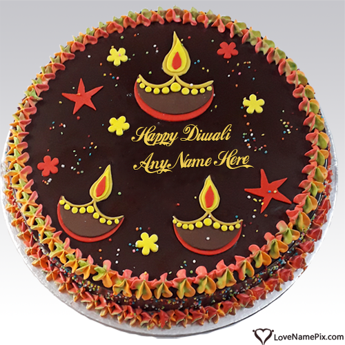 Special Diwali Greetings Cake With Name