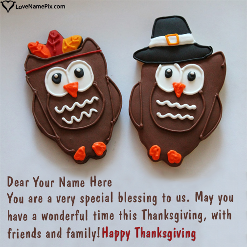 Write Name on Thanksgiving Quotes For Friends And Family Picture