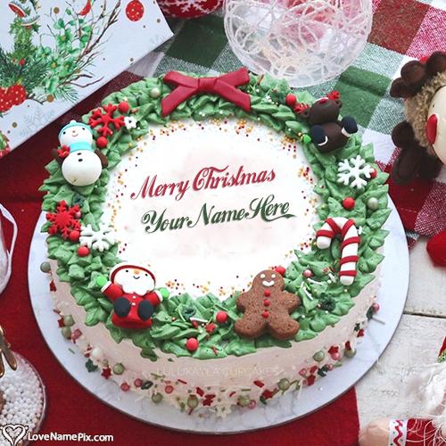 Unique Design Merry Christmas Cake Ideas With Name