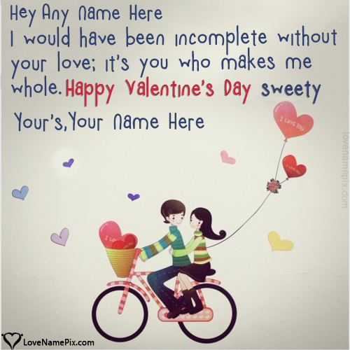 Valentine Wishes For Girlfriend With Name